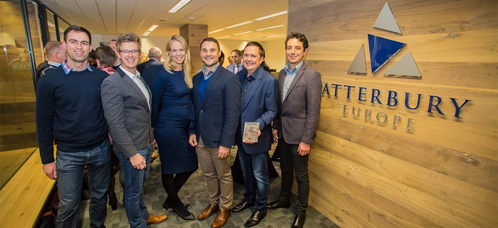 Henk Deist, CEO Atterbury Europe, and his Atterbury-team in Leiden