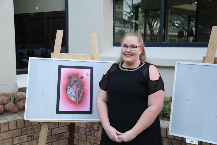 NHS leerder Karina Oosthuizen het elemente vir die program en uitnodigings ontwerp