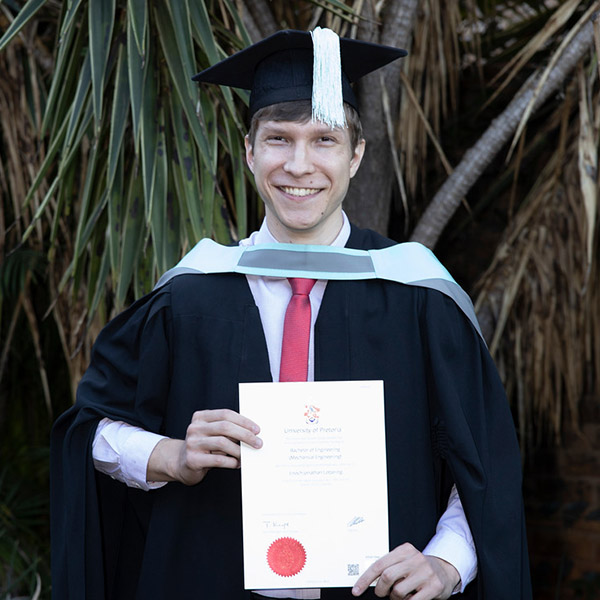 Enoch Lottering - BEng Meganiese Ingenieurswewse Universiteit van Pretoria 2018