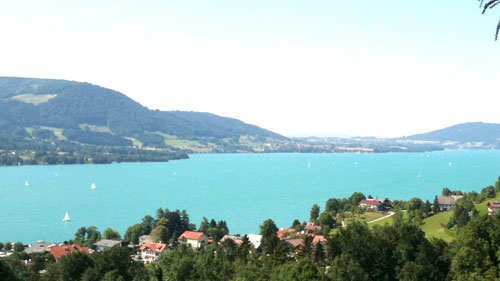 The lake Attersee in Austria