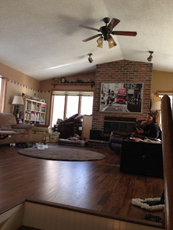 Moved furniture in the Family Room