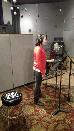 K-Cat in the recording studio