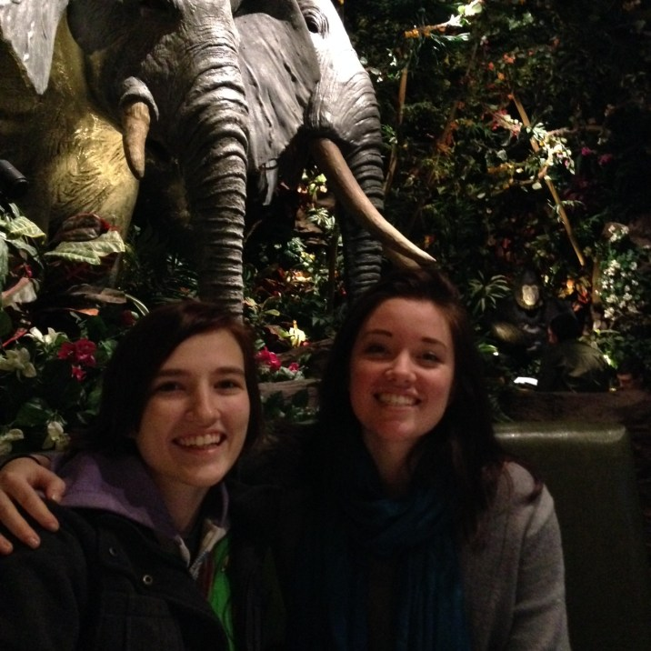 Loo Hoo and Jay Pea at Rainforest Cafe'