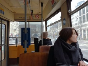 One of the best ways to experience Wien is to hop on Straßenbahn and drive across city. It saves your feet and almost all main attractions are located along the way!