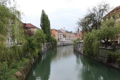 Beautiful boulevards by Ljubljanica river