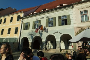 Our hostel in the heart of Sibiu's old town