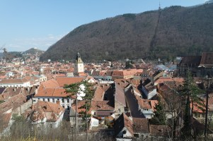 View to Brasov from a guarding tower.