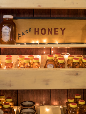 In addition to a wide selection of their own products, Apple Barn also carries other local treats, such as fresh honey.