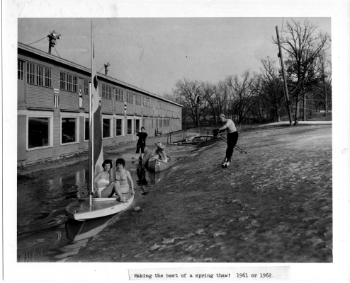 Making the most of a spring thaw in the early 1960s.