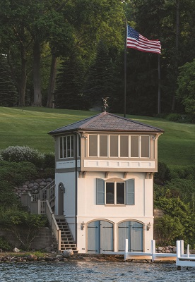 This stately boathouse is located near Cedar Point, also on the north shore of the lake.