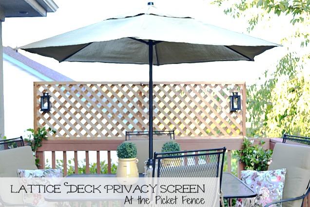 Lattice Turned Deck Privacy Screen