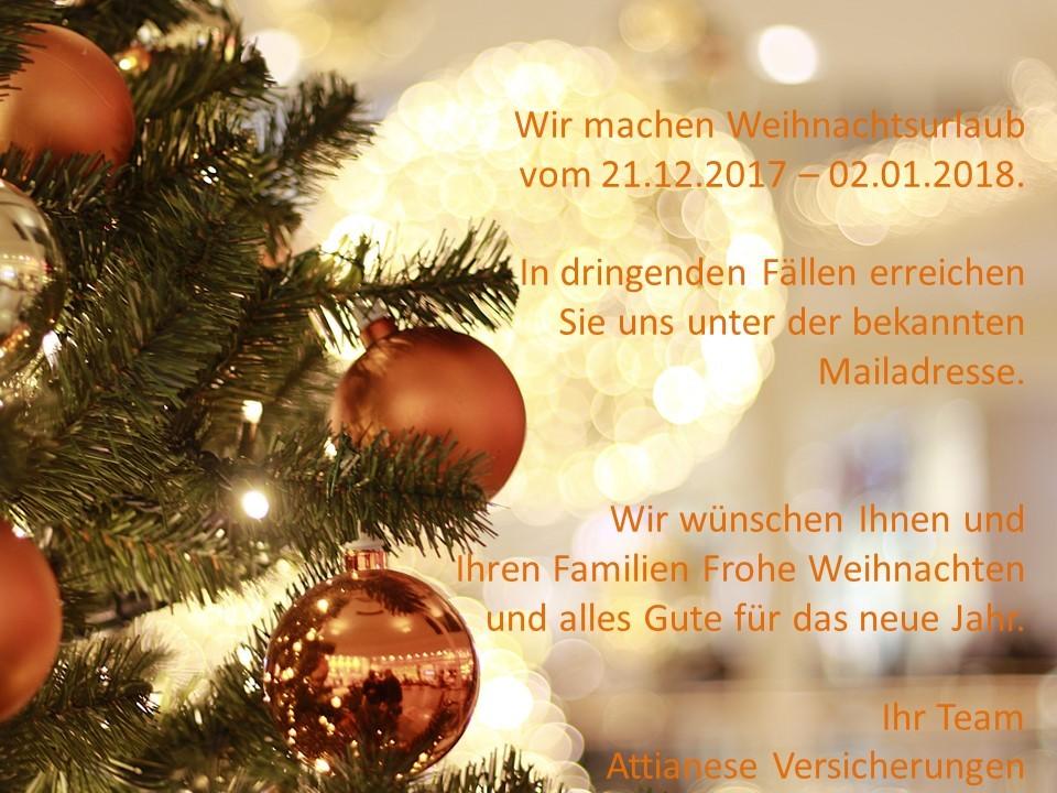 Frohe Weihnachten und einen guten Rutsch ins neue Jahr - Attianese ...