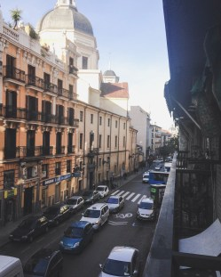 My street view from my balcony. Calle de la Colegiata.
