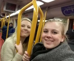 My flat-mate Jill (from Holland) and I's first time using the metro.