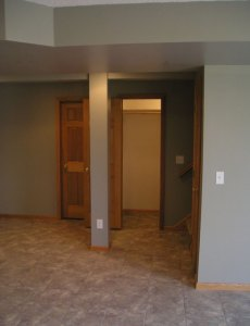 Basement remodel in Roseville, MN