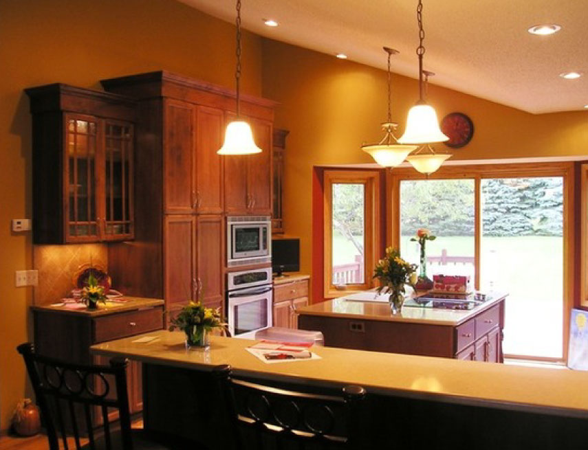 Before and after split level kitchen remodel blaine mn for Split level home remodel