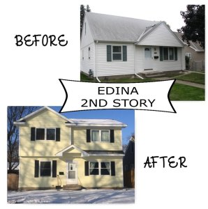 Edina 2nd story before and after