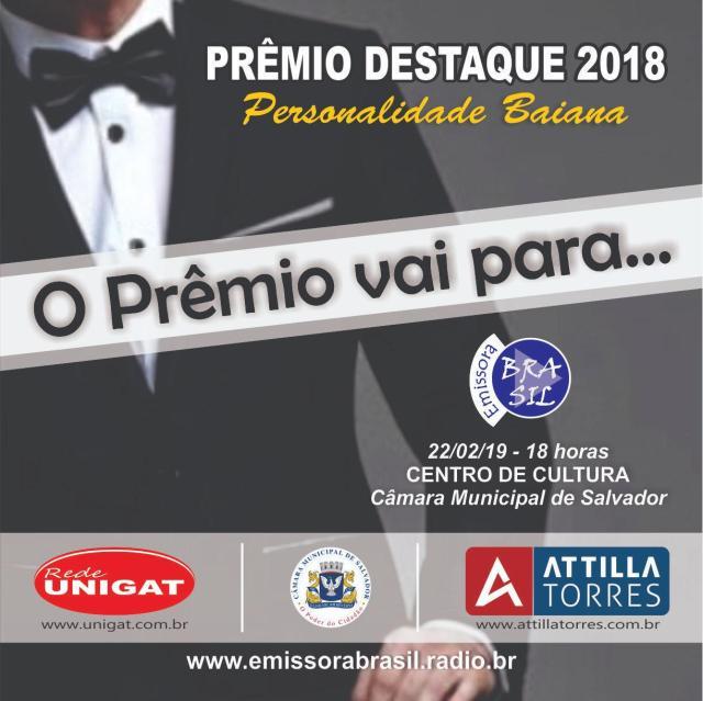 Prêmio para personalidades destaques em 2018 na Bahia