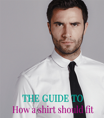 The guide to how a shirt should fit by Attire Club