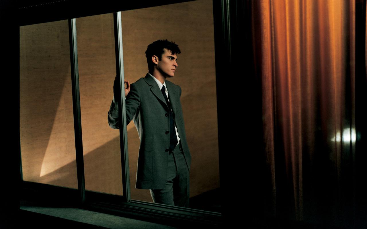 Actor Joaquin Phoenix for the Prada Men Spring-Summer 1997 Campaign