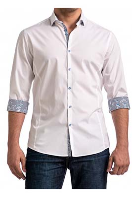 ffe76e46e32 If you are looking for a more interesting, more creative, but still safe  look, you can always opt for a dress shirt that features contrast fabrics.