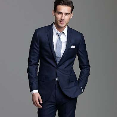 A dark blue suit