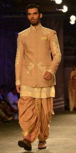A Nehru jacket with dhoti
