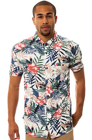 Man in Floral Hawaiian Shirt