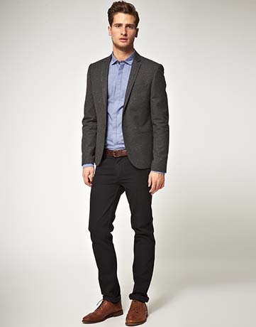 Wear Brown Shoes with Black Pants (B