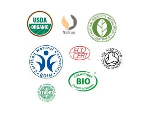 cosmetic organic bio certification label