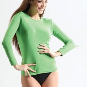 Nukleus green long sleeves Top in Organic Cotton