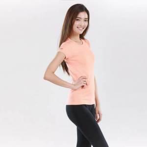 Peach Organic Cotton Tshirt Attitude Organic