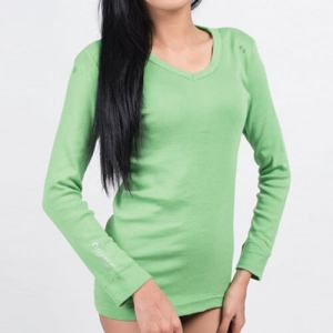 Green organic cotton top Attitude Orgaanic