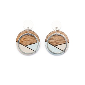 CONTURE ECO FRIENDLY AND HANDCRAFTED EARRINGS – PAGURO (BLUE & CREAM)