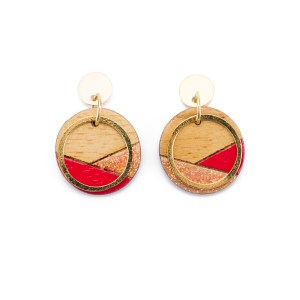 CONTURE ECO FRIENDLY AND HANDCRAFTED EARRINGS – PAGURO (RED & GLITTER)