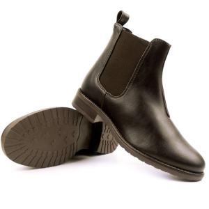 deep tread vegan Chelsea boots