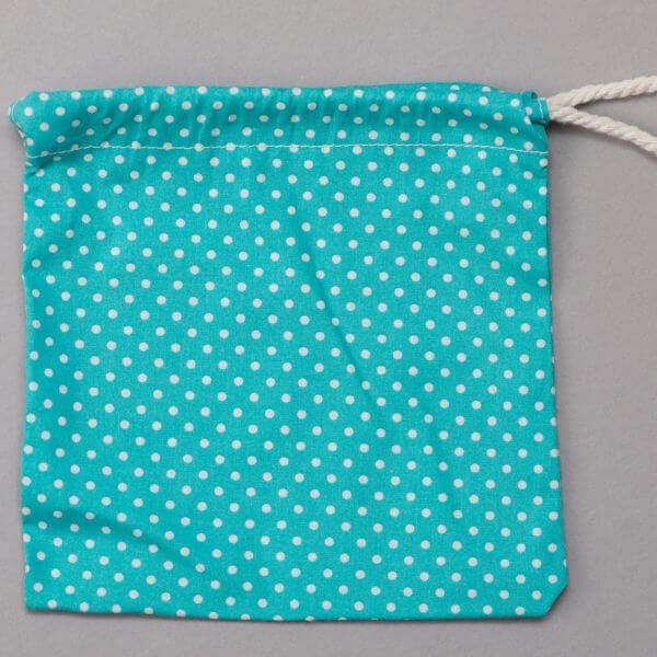 Reusable Cotton Pads (Blue Polka Dots wash bag) - Leave No Trace