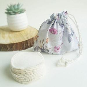 Reusable Cotton Pads (Purple Frond wash bag) – Leave No Trace