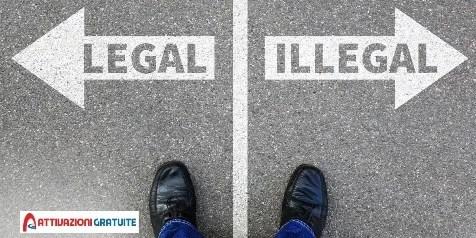 scelta tra gioco legale e illegale
