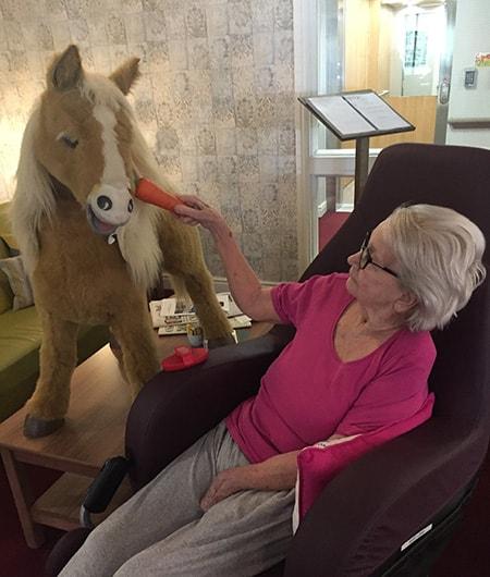 Mary long with animatronic pony image