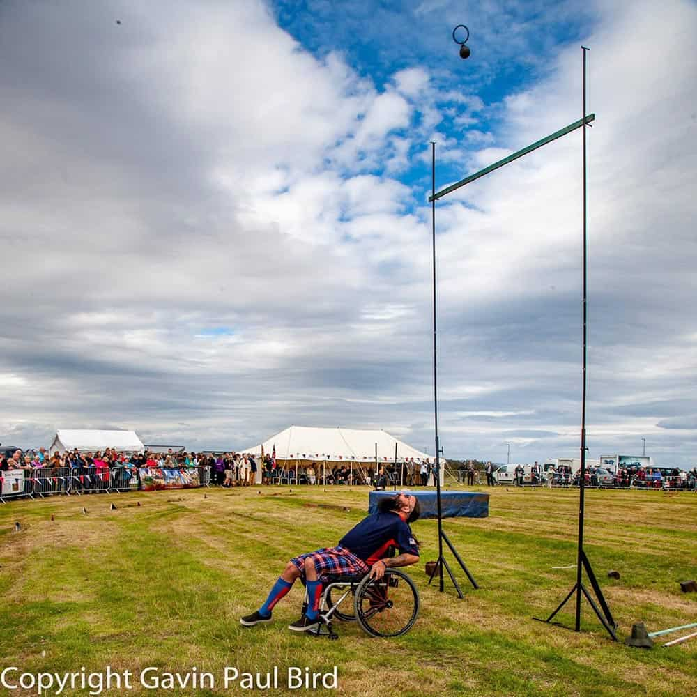 Alex at the Adaptive Highland Games image