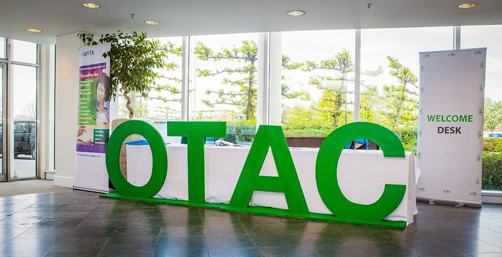 OTAC sign at OTAC event
