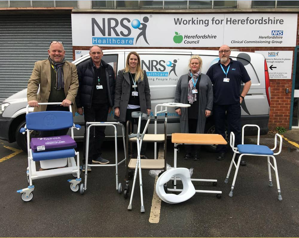 NRS Healthcare offers a free delivery and collection service for unwanted medical equipment in Herefordshire image