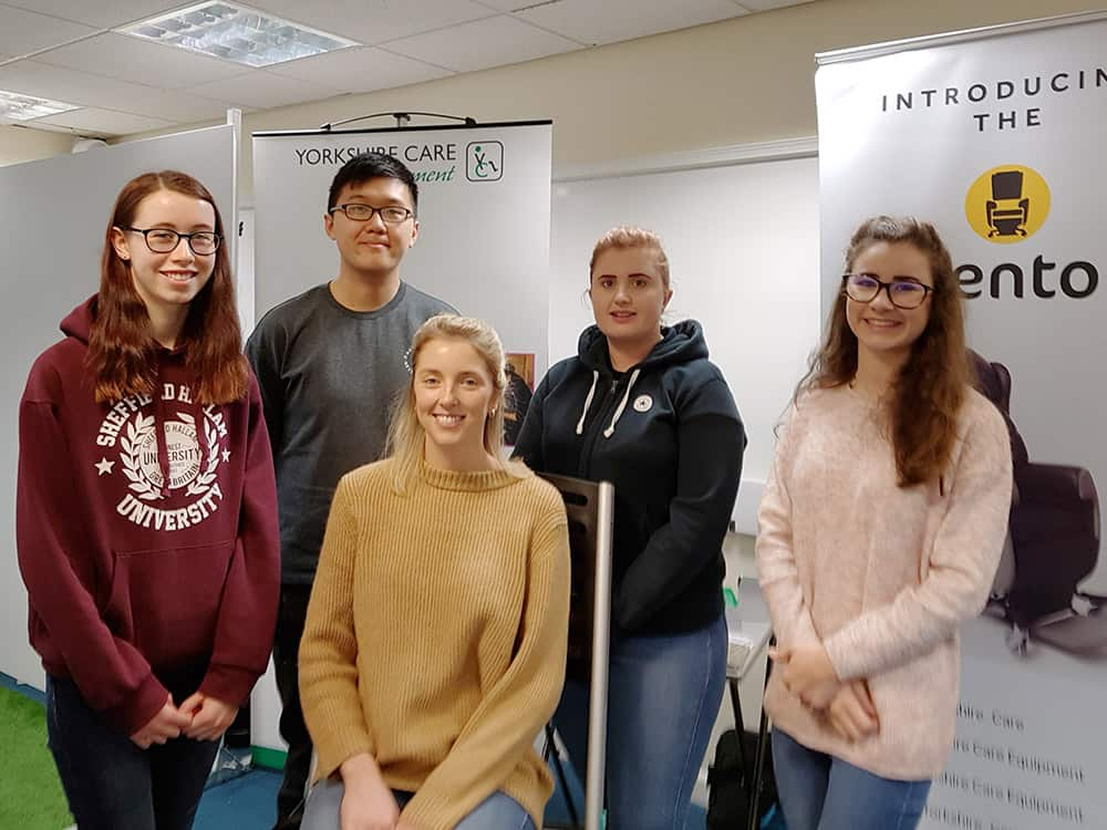 Students from Sheffield Hallam University training with Yorkshire Care Equipment image