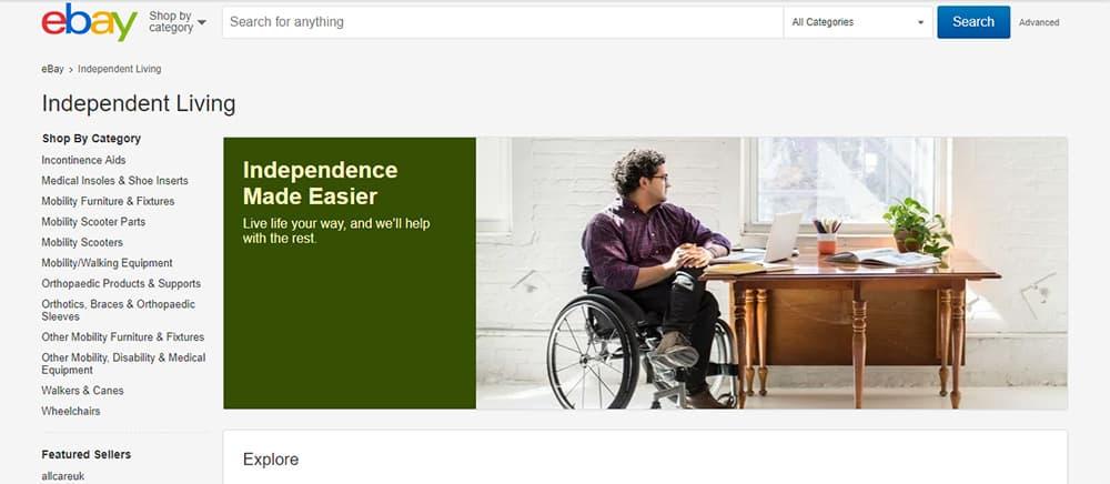 eBay Independent Living Hub image