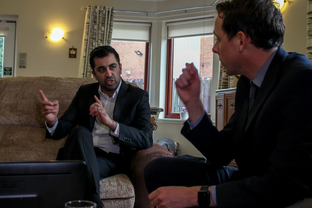 Humza Yousaf visits Blackwood care home to view CleverCogs system image
