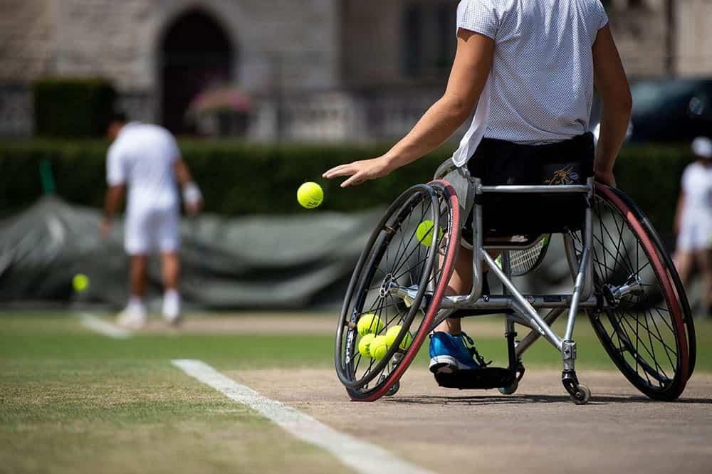 Wheelchair quad tennis image