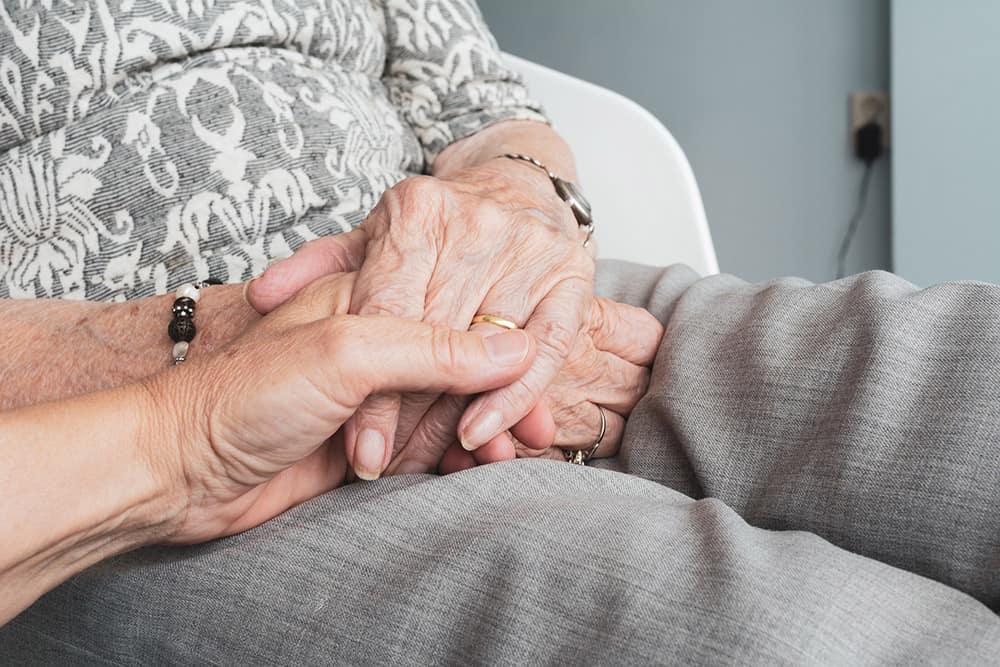 elderly hands image