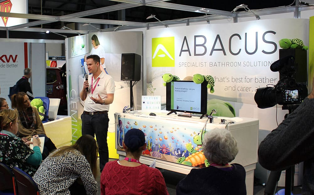 Adam Ferry presenting CPD seminar with Abacus Specialist Bathroom Solutions image
