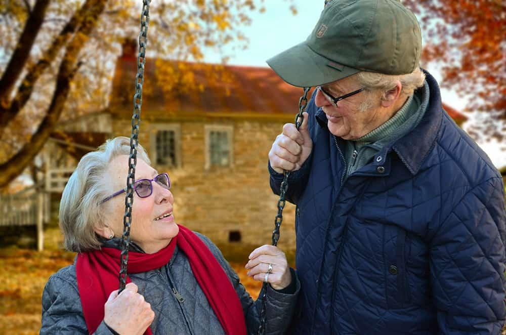 elderly couple image